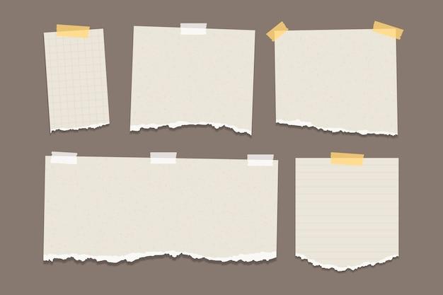 Paquet De Papier Déchiré De Différentes Formes Vecteur Premium