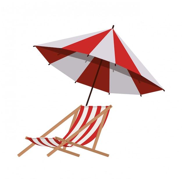 Parasol pour l'été rayé Vecteur gratuit