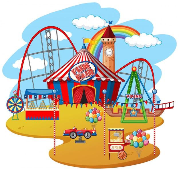 Parc d'attractions Vecteur gratuit