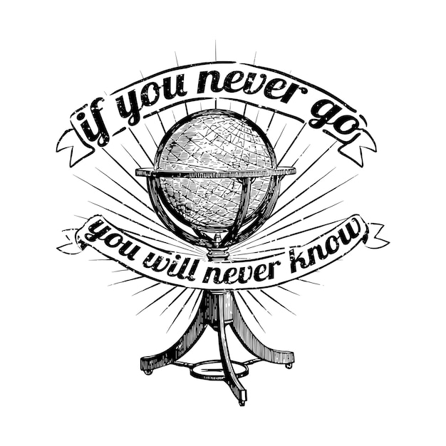 Parcourez l'illustration du monde Vecteur gratuit