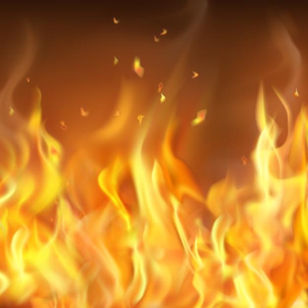 Pare-feu Brûlant à Chaud Abstrait Vecteur gratuit
