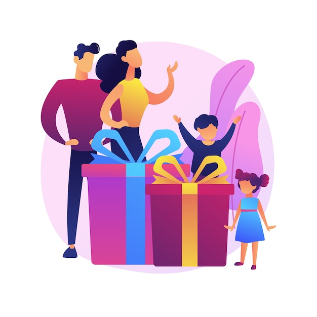 Parents Et Petits Enfants Jouant Ensemble. Parentalité Heureuse, Couple Interracial, Liens Familiaux. Joyeuse Mère Et Père Avec Enfants. Vecteur gratuit