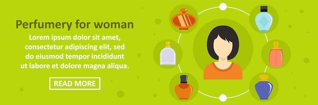Parfumerie pour concept horizontal de bannière femme modèle Vecteur Premium