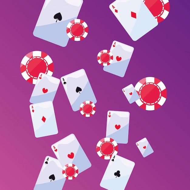 Paris de jeux de casino Vecteur Premium