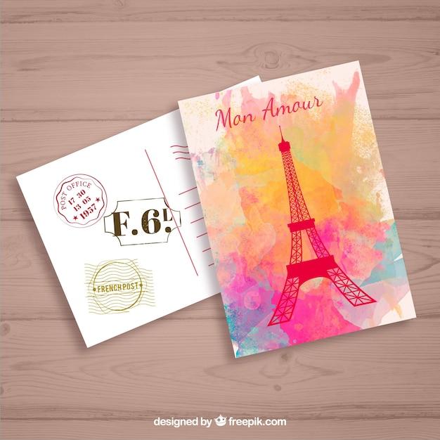 Paris mon amour Vecteur gratuit