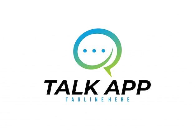 Parler vecteur app logo isolé Vecteur Premium
