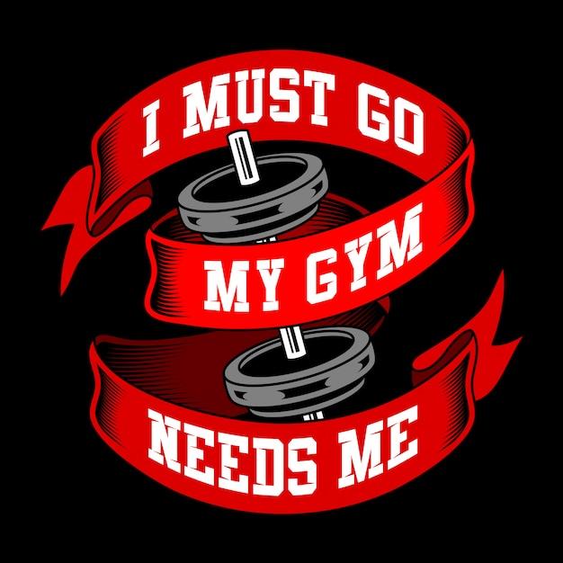 Paroles de gym et citations Vecteur Premium