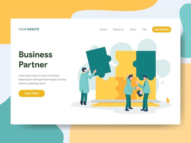 Partenaire commercial pour la page web Vecteur Premium