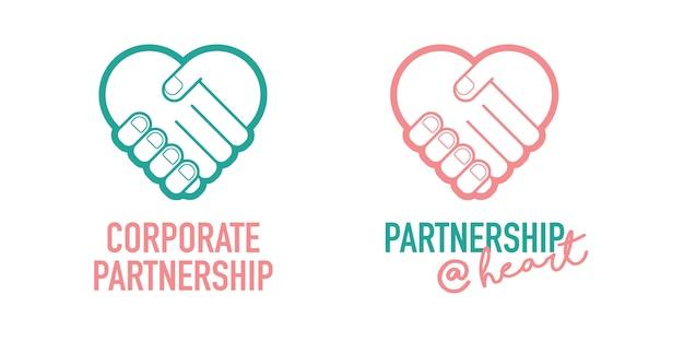 Partenariat entreprise entreprise poignée de main réussie négociation vecteur icône Vecteur Premium