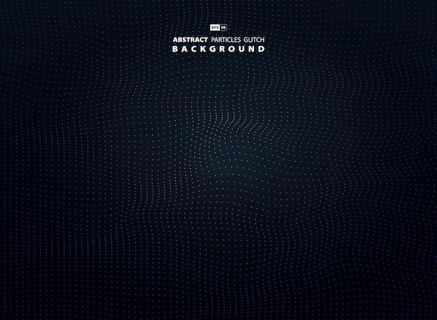 Particule abstraite point blanc sur fond sombre. Vecteur Premium
