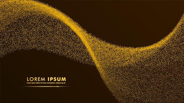Particule or design abstrait fond or jaune doré Vecteur Premium