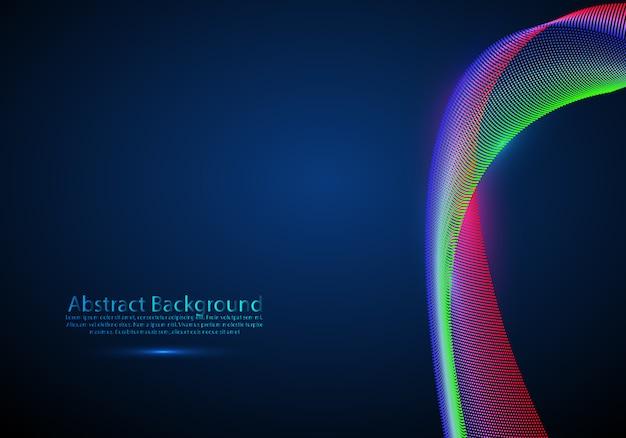 Particules 3d maille réseau son son qui coule Vecteur Premium