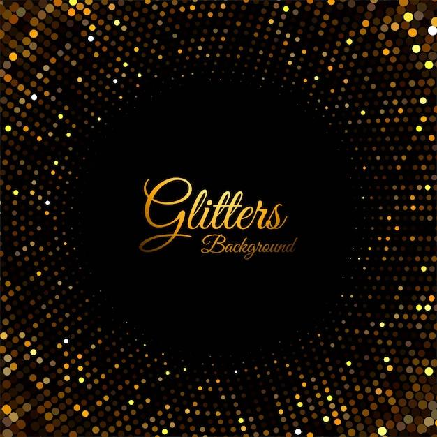 Particules abstraites de paillettes d'or Vecteur gratuit