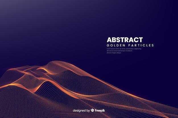 Particules Numériques Abstraites Vagues Vecteur gratuit
