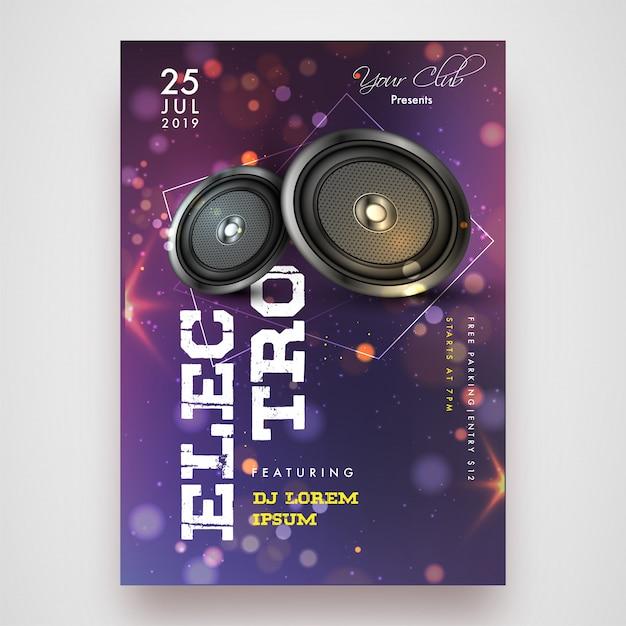 Party flyer design. Vecteur Premium