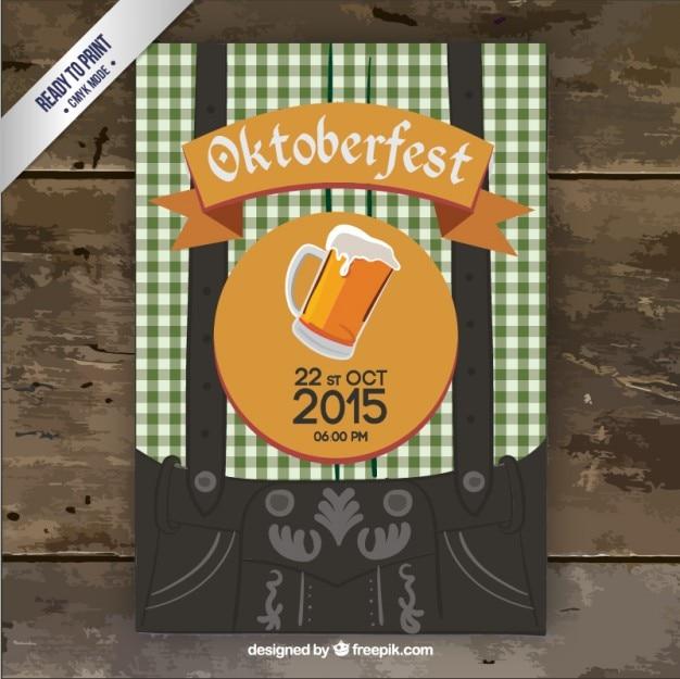 Party flyer oktoberfest Vecteur gratuit