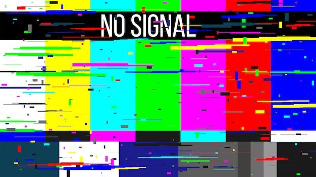 Pas de signal test tv, erreur d'écran télévision. Vecteur Premium