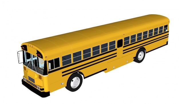 Passager d'autobus isolé Vecteur Premium