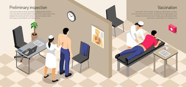 Patient Masculin Et Infirmière Pendant La Procédure De Vaccination Vecteur gratuit