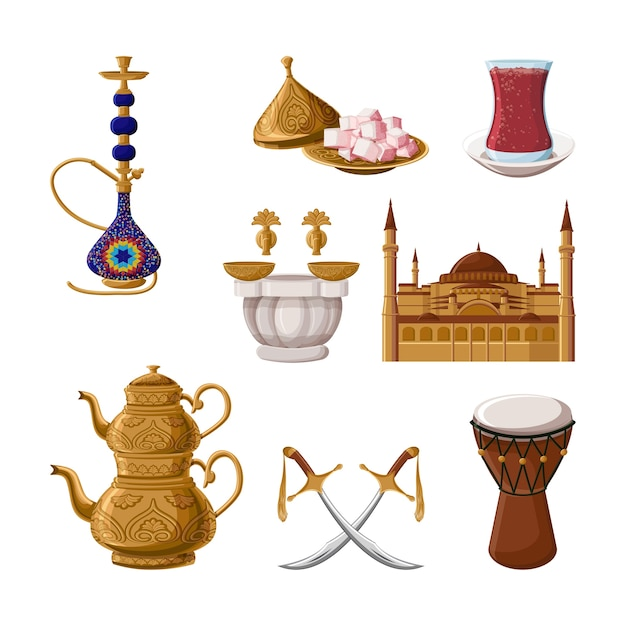 Patrimoine traditionnel turc. Vecteur Premium