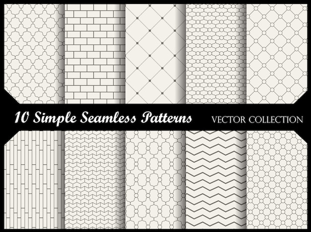 Patterns Vecteur Premium