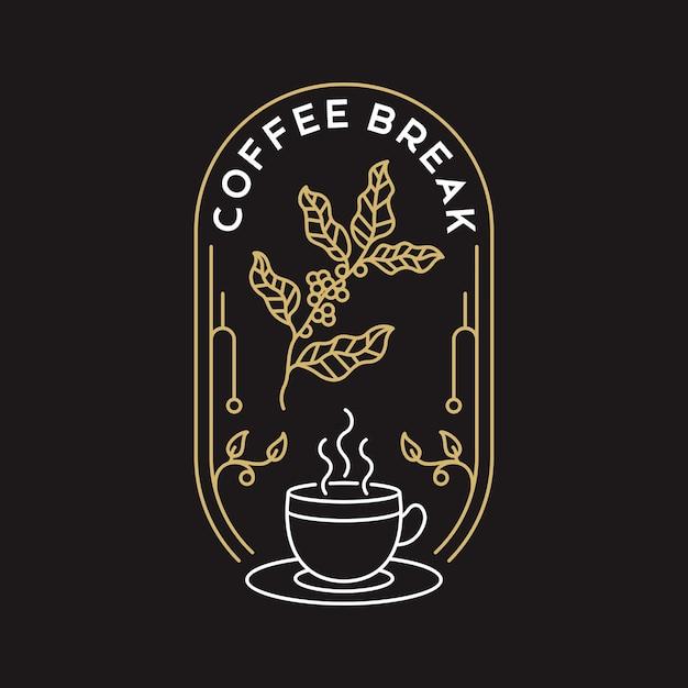 Pause Café Vecteur Premium