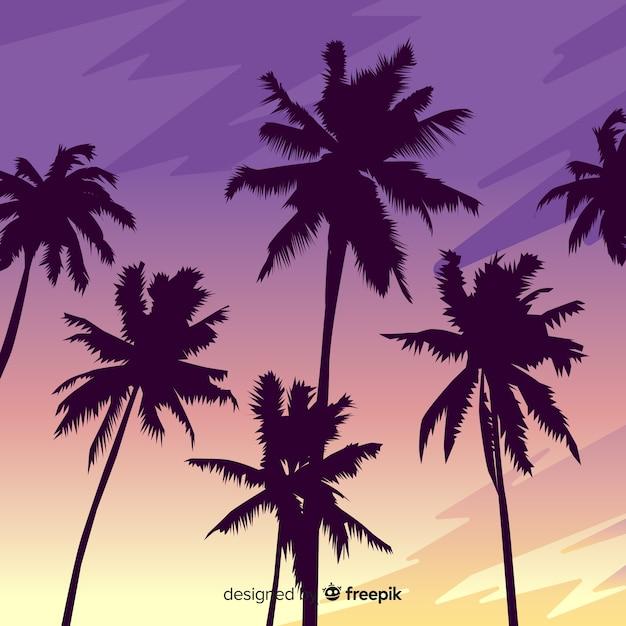 Paysage de coucher de soleil de plage réaliste Vecteur gratuit