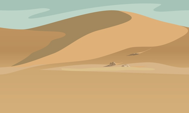 Paysage désertique Vecteur Premium