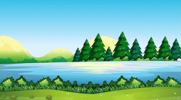 Paysage de fond nature vide Vecteur gratuit