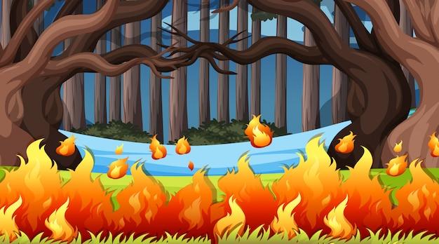 Paysage de fond de scènes d'environnement naturel Vecteur gratuit