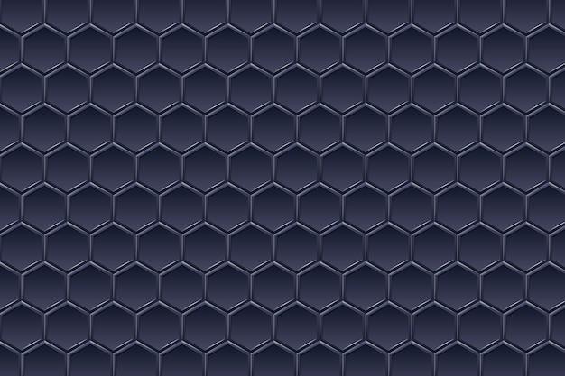 Paysage Grand Angle Hexagonal Perspective Futuriste Vecteur Premium