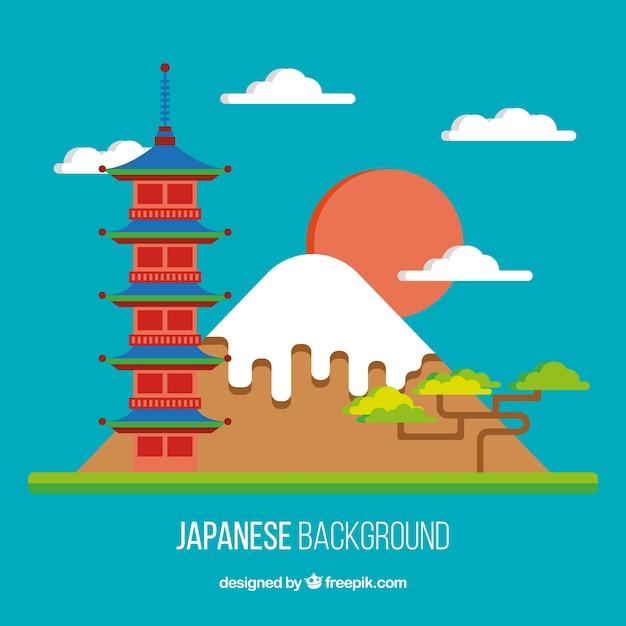 Paysage japonais dans l 39 appartement design background for Appartement design japonais