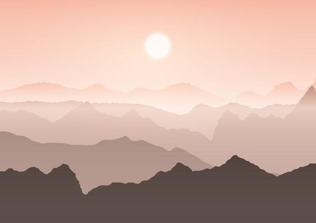 Paysage de montagne Vecteur gratuit