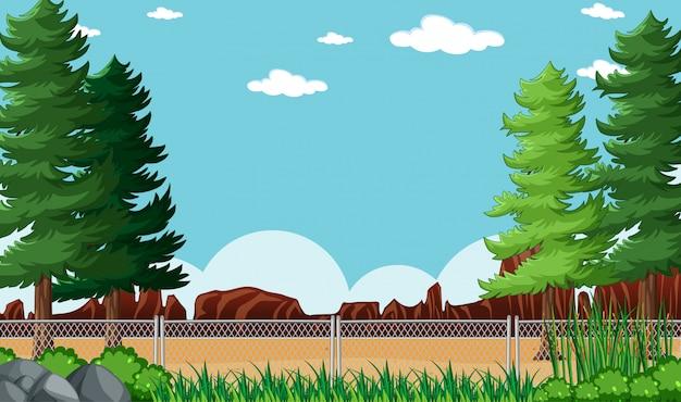 Paysage De Parc Nature Fond Vide Vecteur gratuit