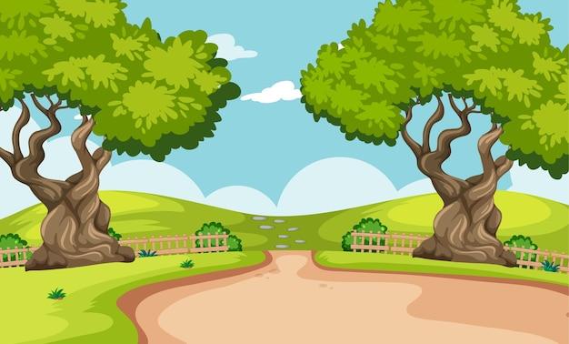 Paysage De Parc Naturel De Fond Vide Vecteur gratuit