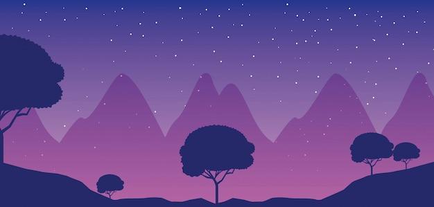 Paysages de voyage wanderlust Vecteur gratuit
