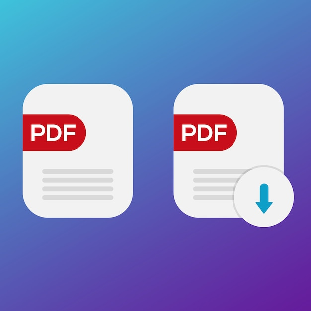 Pdf Icon Book Télécharger Vecteur Premium