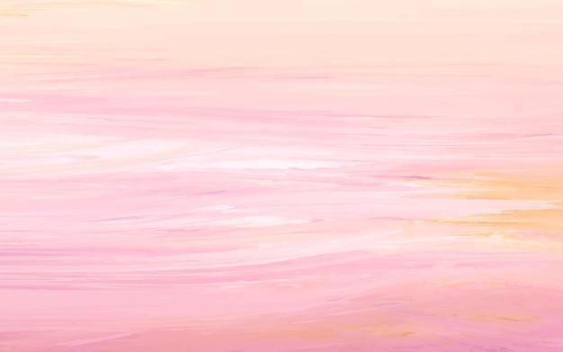 Peach abstrait pinceau acrylique texture fond Vecteur gratuit