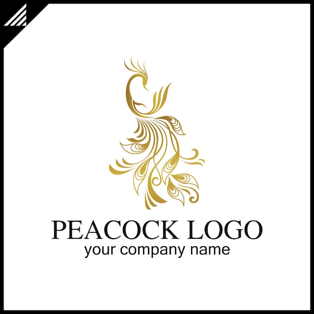 Peacock Logo Vecteur Premium