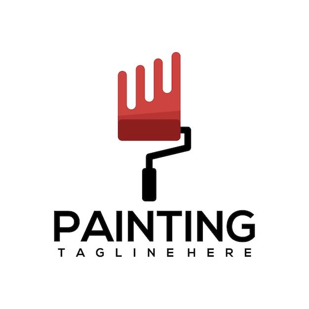 Peinture logo Vecteur Premium