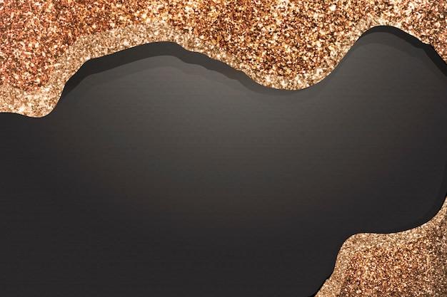Peinture à paillettes d'or sur fond noir Vecteur gratuit