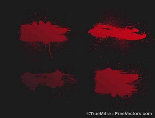 peinture rouge clabousse sur fond noir t l charger des vecteurs gratuitement. Black Bedroom Furniture Sets. Home Design Ideas