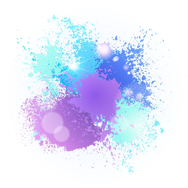 Peinture Splash Festival De Couleurs Happy Holi India Holiday Celebration Traditionnel Panier De Voeux Vecteur Premium