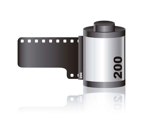 Pellicule photographique avec ombre Vecteur Premium