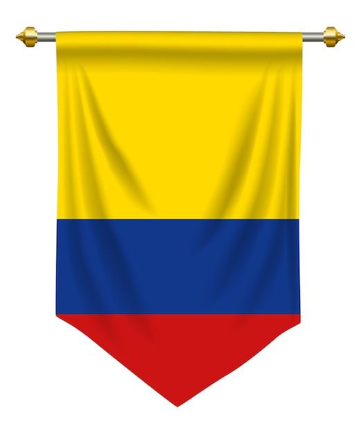 Pennant Colombie Vecteur Premium