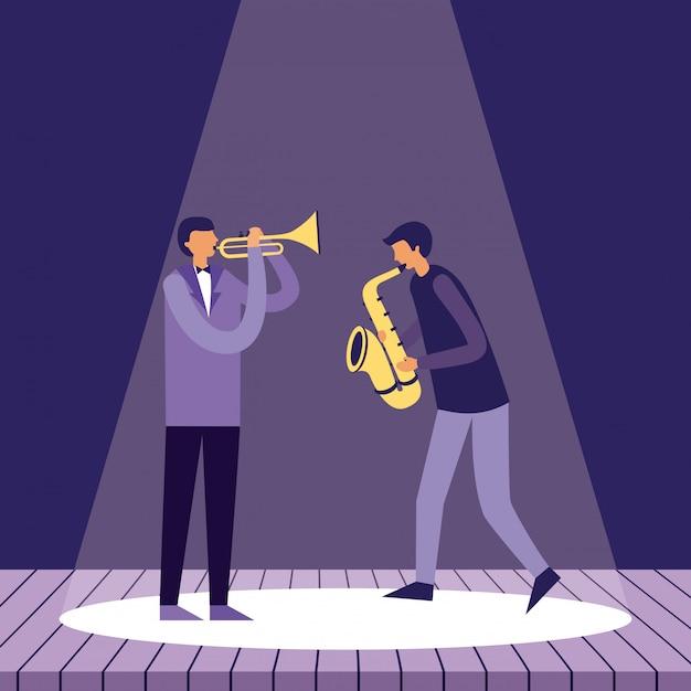 People Festival Jazz Vecteur gratuit