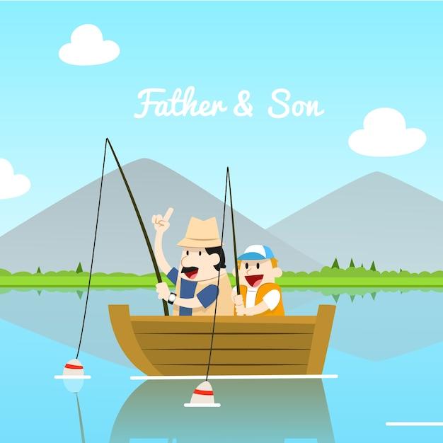 Père et fils illustration Vecteur gratuit