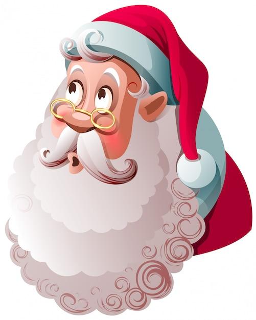 Père Noël Lève Les Yeux Avec Surprise. Vecteur Premium