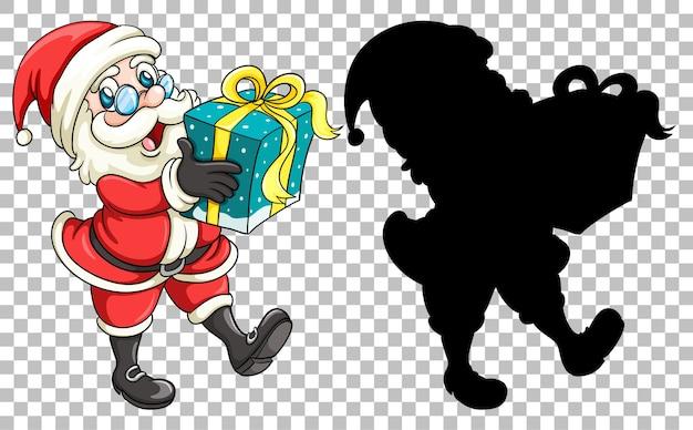 Père Noël Remettant Le Cadeau Vecteur gratuit