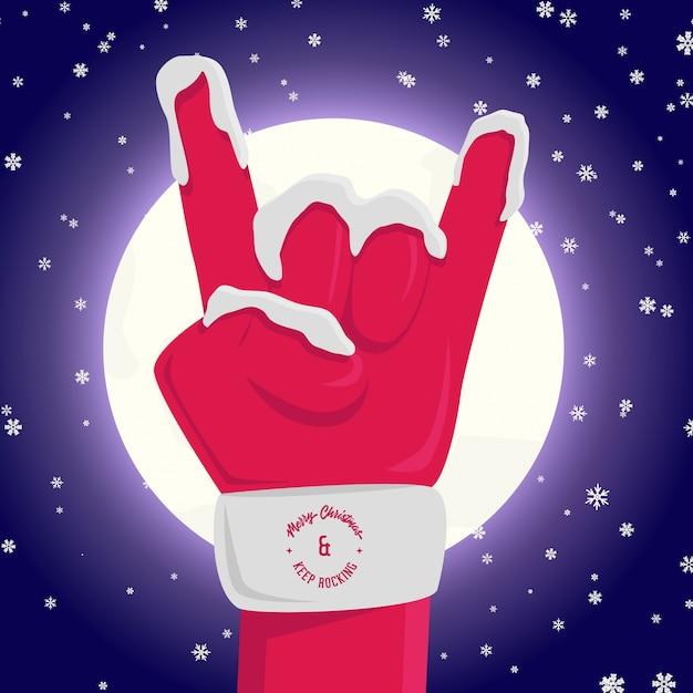 Père Noël Rock And Roll Signe Télécharger Des Vecteurs Premium